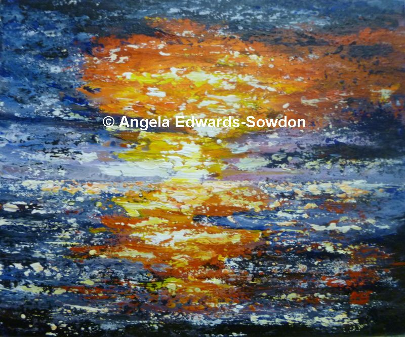 Abstract painting by Shropshire Artist